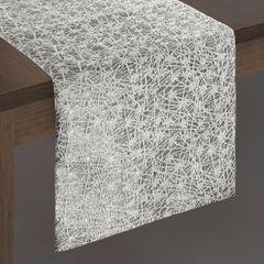 Stalowy szary srebrny bieżnik na stół 35x140 cm - 35 X 140 cm - srebrny 2