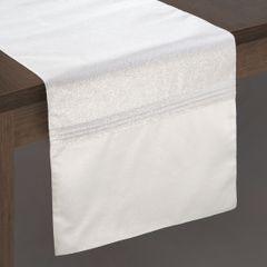 Biały bieżnik do jadalni błyszczący lureks 35x140 cm - 35 X 140 cm - biały 2