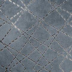 Welwetowa zasłona z nadrukiem stalowy na przelotkach 140x250 cm - 140 X 250 cm - szary 4