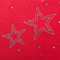 Czerwony BIEŻNIK ŚWIĄTECZNY z choinką z cyrkonii 40x140 cm - 40 X 140 cm - czerwony 3