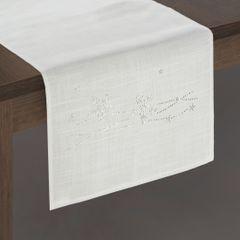 Dekoracyjny bieżnik cekiny płatki śniegu 40x140cm - 40 X 140 cm - Biały 2