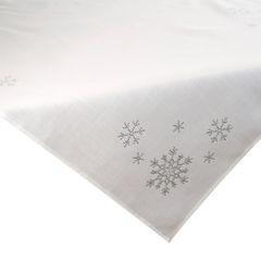 Kremowy obrus świąteczny z kryształkami 85x85 cm - 85 X 85 cm - kremowy 1