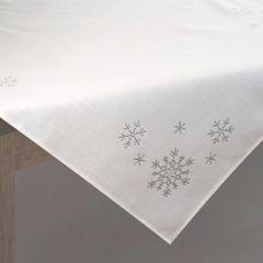 Kremowy obrus świąteczny z kryształkami 85x85 cm - 85 X 85 cm - kremowy 2