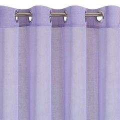 Półprzejrzysta fioletowa firana na przelotkach 140x250 - 140 X 250 cm - fioletowy 2