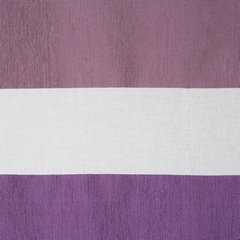 CINDY BIAŁA ZWIEWNA ZASŁONA Z PASAMI FIOLETU NA PRZELOTKACH 140x250 CM - 140 X 250 cm - biały/fioletowy 4