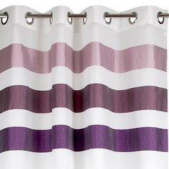 Zasłona pasy w górnej części biały+odcienie fioletu przelotki 140x250cm - 140 X 250 cm - biały/fioletowy 5