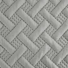 Elegancka srebrna pikowana narzuta geometryczny wzór 220x240 cm - 220 X 240 cm - popielaty 6