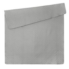 Elegancka srebrna pikowana narzuta geometryczny wzór 220x240 cm - 220 X 240 cm - popielaty 5
