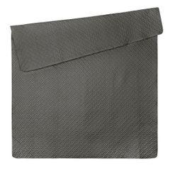 Elegancka pikowana narzuta w kolorze stalowym geometryczny wzór 220x240 cm - 220x240 - Stalowy 5