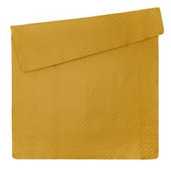 Elegancka musztardowa pikowana narzuta geometryczny wzór 170x210 cm - 170 X 210 cm - musztardowy 5