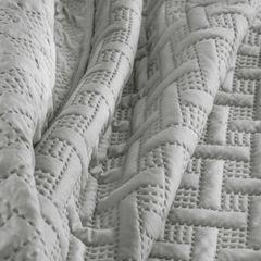 Elegancka srebrna pikowana narzuta geometryczny wzór 170x210 cm - 170 X 210 cm - popielaty 7