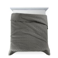 Elegancka pikowana narzuta w kolorze stalowym geometryczny wzór 170x210 cm - 170 X 210 cm - stalowy 4