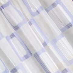 Zasłona w kratkę kremowa fioletowa na przelotkach 140x280cm - 140 X 280 cm - kremowy/fioletowy 3