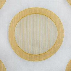 Designerska zasłona w koła na taśmie tunel 140x280 cm pomarańczowa - 140 X 280 cm - kremowy/pomarańczowy 4