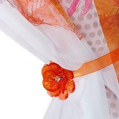 Firana dziecięca kolorowa Hannah Montana na taśmie 350x160 cm - 350x160 - Pomarańczowy / Różowy 1