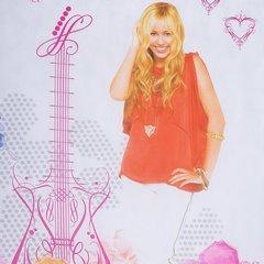 Firana dziecięca kolorowa Hannah Montana na taśmie 350x160 cm - 350 X 160 cm - kremowy/różowy 3