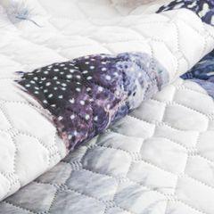 Miękka narzuta w stylu boho z motywem piór 170x210 cm - 170 X 210 cm - biały/mix kolorów 6