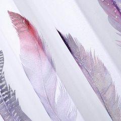 Zasłona pióro na przelotkach w stylu boho 140x250cm - 140x250 - biały, różowy, fioletowy, 2
