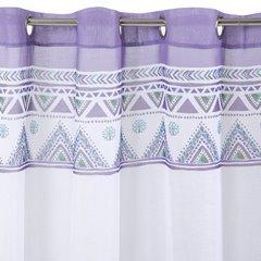 Zasłona pióro na przelotkach w stylu boho 140x250cm - 140x250 - biały, różowy, fioletowy, 3