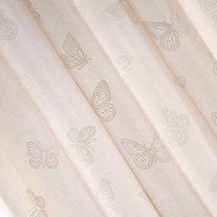 Zasłona różowa w motyle na przelotkach 140x250cm - 140x250 - różowy 10