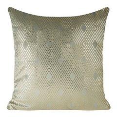 Poszewka ze srebrnego welwetu ze złotym wzorem 45x45 cm - 45 X 45 cm - szary/złoty 1