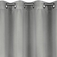 Gładka srebrna zasłona zaciemniająca 135x250 na przelotkach - 135x250 - Srebrny 2