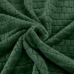 Cindy miękki koc z mikroflano zielony 70x160 cm Design 91 - 70 X 160 cm - ciemnozielony 7