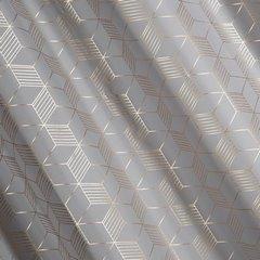 Zasłona oli we wzór geometryczny srebrny miedziany - 140 X 250 cm - stalowy/miedziany 2