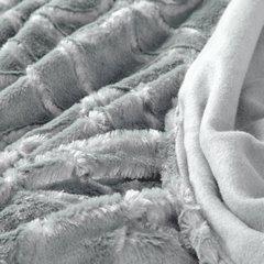 Narzuta futerko na łóżko srebrny szary 170x210 cm - 170 X 210 cm - srebrny 4