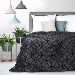 Narzuta futerko na łóżko stalowy szary 170x210 cm - 170 X 210 cm - grafitowy 1