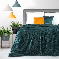 NARZUTA FUTERKO na łóżko ciemny turkus 170x210 cm - 170x210 - Turkusowy 4