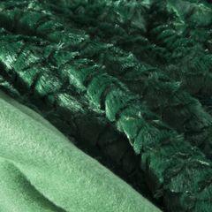 Amber koc z mikroflano z efektem 3D zielony 170x210 cm Design 91 - 170 X 210 cm - butelkowa zieleń 8