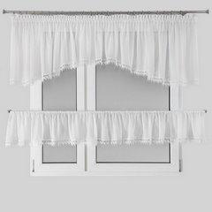 Komplet firan dwuczęściowy dagmara kolor biały woal  - 400 x 65 , 400 x 35 cm - biały 2