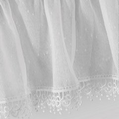 Komplet firan dwuczęściowy dagmara kolor biały woal  - 400 x 65 , 400 x 35 cm - biały 5
