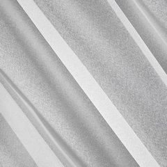 Firana z ozdobną wstawką w kwiaty tunel z grzywką 400x150cm - 400 X 150 cm - biały 5