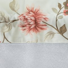 Firana z ozdobną wstawką w kwiaty tunel z grzywką 400x150cm - 400x150 -  3