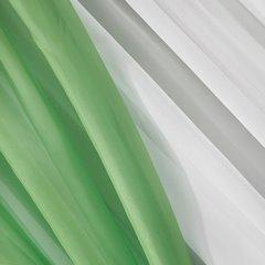 Firana biała z miętowymi zasłonkami komplet na taśmie 400x145cm - 400 X 150 cm - biały 5