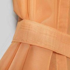Firana biała z pomarańczowymi zasłonkami komplet na taśmie 400x145cm - 400 X 150 cm - biały 3