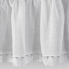 Komplet firan z ozdobną koronką aż 3 szt. biały taśma 400x65/400x35cm - 400 x 60 , 400 x 35 cm - biały 3