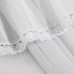 Komplet firan z ozdobną koronką aż 3 szt. biały taśma 400x65/400x35cm - 400 x 60 , 400 x 35 cm - biały 5