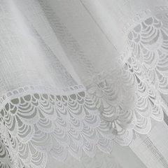 Komplet firan z ozdobną koronką 2 szt. biały taśma 400x60/400x145cm - 400 x 60 , 400 x 145 cm - biały 3