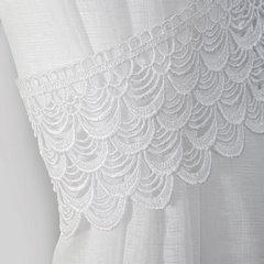 Komplet firan z ozdobną koronką 2 szt. biały taśma 400x60/400x145cm - 400 x 60 , 400 x 145 cm - biały 5