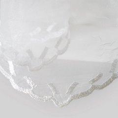 Firana haftowana z satynową listwą biała tunel 400x145cm - 400 x 145 cm - biały 3