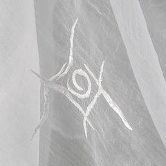 Firana haftowana z satynową listwą kremowa tunel 400x145cm - 400x145 - kremowy 3