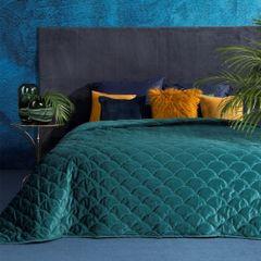 Ekskluzywna narzuta do sypialni pikowana - mój wybór Eva Minge - turkusowa 220x240 cm - 220 X 240 cm - ciemnoturkusowy 1