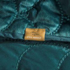Ekskluzywna narzuta do sypialni pikowana - mój wybór Eva Minge - turkusowa 220x240 cm - 220 X 240 cm - ciemnoturkusowy 2