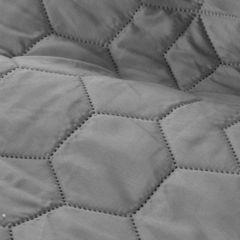 Narzuta w kolorze stalowym z pikowanym geometrycznym wzorem 170x210 cm - 170 X 210 cm - szary 4