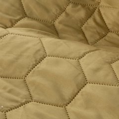 Narzuta khaki z pikowanym geometrycznym wzorem 170x210 cm - 170 X 210 cm - oliwkowy 5