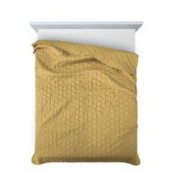 Narzuta khaki z pikowanym geometrycznym wzorem 170x210 cm - 170 X 210 cm - oliwkowy 3