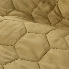Narzuta khaki z pikowanym geometrycznym wzorem 220x240 cm - 220 X 240 cm - oliwkowy 4